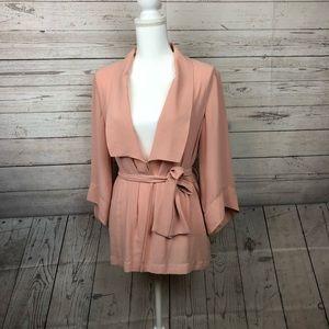 Urban Outfitters Sparkle & Fade Pink Kimono